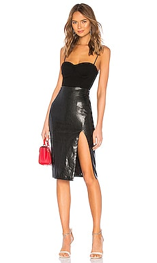 Promo Code Superdown Jezabel Faux Leather Midi Skirt
