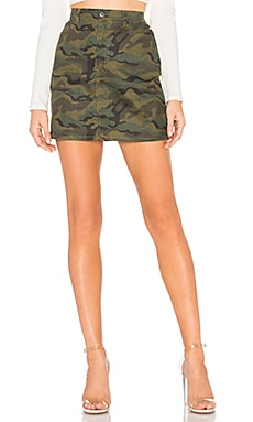 Bela Camo Mini Skirt superdown $29