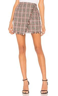 Carol Plaid Fringe Skirt by the way. $52