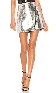 Nina Metallic Moto Skirt