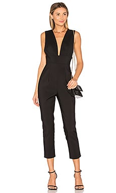 Gloria Deep V Jumpsuit in Black