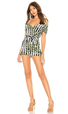 Pilar Off Shoulder Tie Romper