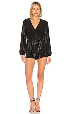 Belinda Metallic Surplice Romper by the way. $35