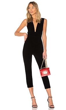 ded6f2dcf9f1 Gloria Deep V Velvet Jumpsuit by the way.