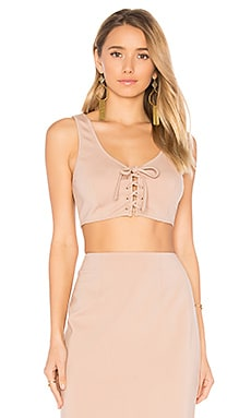 Gina Crop Top in Nude