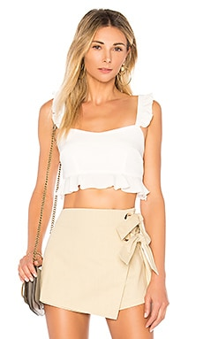 Monroe Ruffle Crop Top superdown $42 BEST SELLER