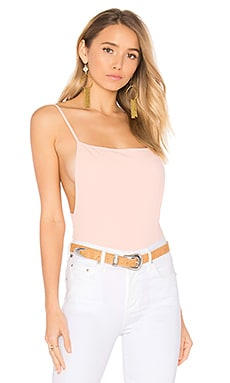 Raelyn Backless Bodysuit in Blush