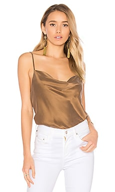 Janna Silk Tank in Mocha