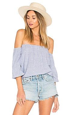 Tawny Blouson Top en Blue Stripe