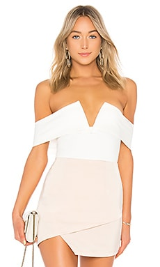 Aaliyah Deep V Bodysuit superdown $52 BEST SELLER