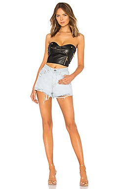 Superdown Lexy Moto Faux Leather Corset Discount Code