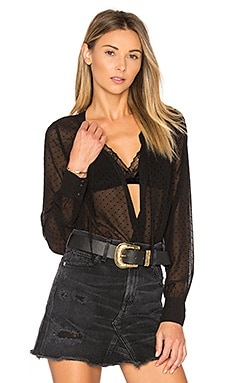 Smith Tie Bodysuit in Black Dot
