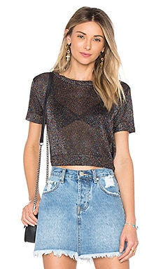 Nora Metallic Knit Crop Top