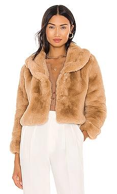 Milan Cropped Faux Fur Jacket Bubish $174