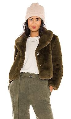Milan Cropped Faux Fur Jacket Bubish $188