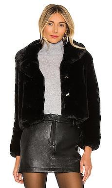 Milan Cropped Faux Fur Jacket Bubish $203