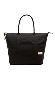 Buddy Play PVC Canvas Tote in Black
