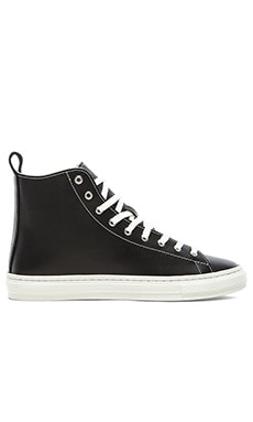 Buddy Bull Terrier Hi Smooth Leather in Black