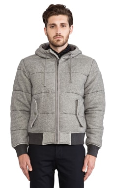 Burkman Bros. Quilted Fleece Jacket in Grey Heather