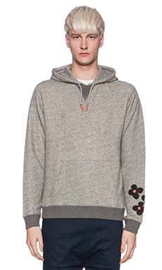 Burkman Bros. Hooded Fleece in Heather Grey