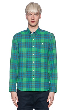 Burkman Bros. Spring Flannel Button Down in Green