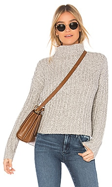 Twisted Turtleneck Sweater BROWN ALLAN $165