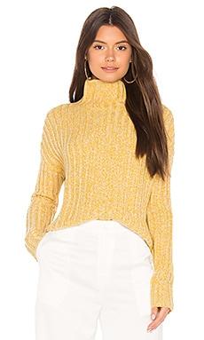 TWISTED タートルネックセーター BROWN ALLAN $132