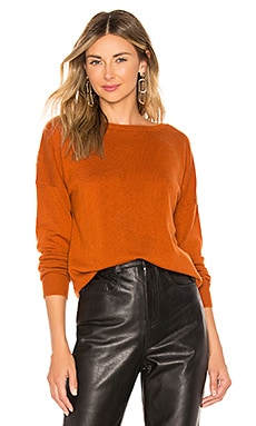 The V Back Sweater BROWN ALLAN $41 (FINAL SALE)
