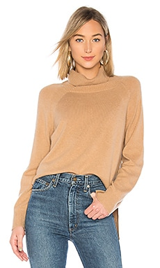 The Turtleneck Rib Sweater BROWN ALLAN $45 (FINAL SALE)