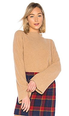 The Ribbed Bell Sleeve Sweater BROWN ALLAN $71