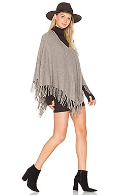 Fringe Poncho in Natural