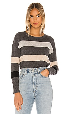 Stripe Crop Crew Sweater SWTR $87