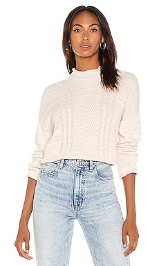 Funnel Neck Cable Sweater SWTR $112