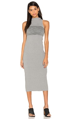 By Johnny Slice Panel Knit Dress in Grey
