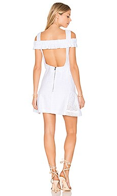 Marthe Lace Elastic Frill Mini Dress