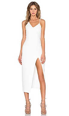 By Johnny Side Slice Midi Dress in White