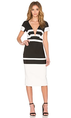 Inverted Stripes Dress en Noir & Blanc