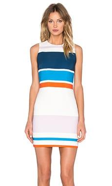 By Johnny Signal Stripe Mini Dress in Signal Stripe
