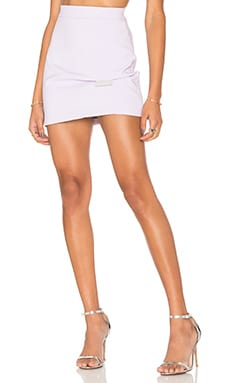 By Johnny Lilac Fold Mini Skirt in Lilac & Grey