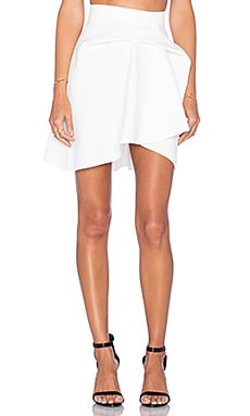 By Johnny Mini Tuck Skirt in White