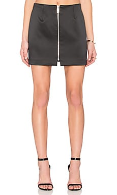 Night Shine Zip Mini Skirt
