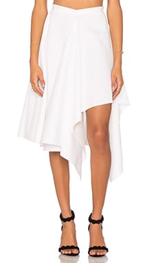 By Johnny Razor Slice Skirt in White