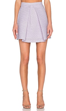 By Johnny Lilac Shadow Mini Skirt in Lilac White
