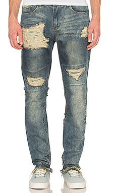 Distressed Stonewashed Jean