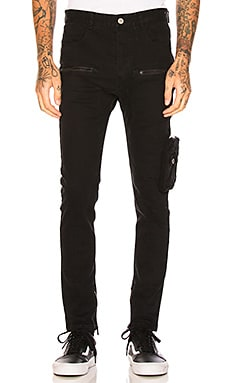 Leg Pocket Drop Crotch Pant