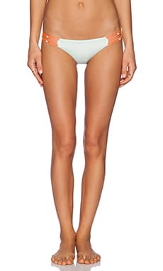 CA by vitamin A Karlie Beaded Hipster Bikini Bottom in Frost Refresh