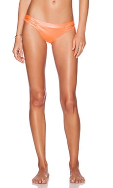 CA by vitamin A Gypsy Cut Out Bikini Bottom in Hot Coral