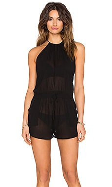 Lost Coast Romper in Blackout Gauze