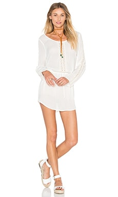 Daydreamer Mini Dress in Natural Gauze