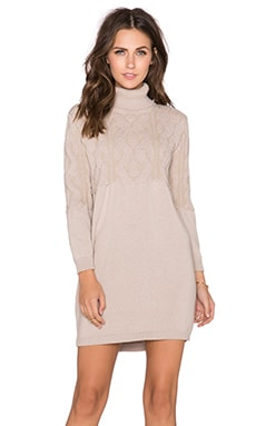 cacharel Turtleneck Dress in Nude